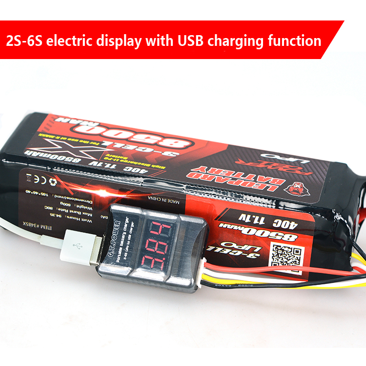 GT Power 2S-6S Lithium Battery Charger Converter Voltage Display With USB Charging Function For Phone High Quality Free Shipping high quality usb data battery charger converter power charging cable for nintendo ndsl ds lite dsi 3ds xl