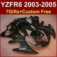 Модный матовый черный запасные части корпуса для YAMAHA R6 обтекатель комплект 03 04 05 Обтекатели YZF R6 2003 2004 2005 мотоциклетные наборы E6U