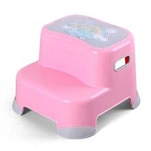 Утолщенный детский пластиковый табурет для мытья ног Подушка на стул для ног Детская ванная комната Нескользящая восходящая лестница Складная стремянка стул для ног