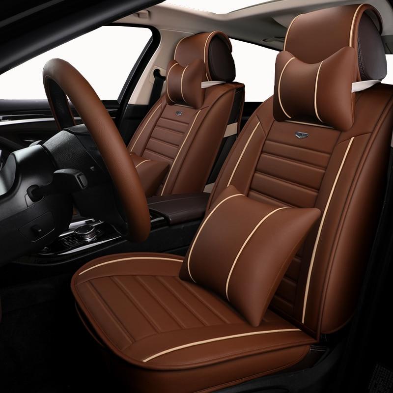 Automobiles Seat Covers Auto Leather Universal Car Seat Covers For Mazda All Models Cx5 Cx7 Cx9 Mx5 Atenza Mazda 2/3/5/6/8 Auto Accessories Car Styling Attractive Designs;
