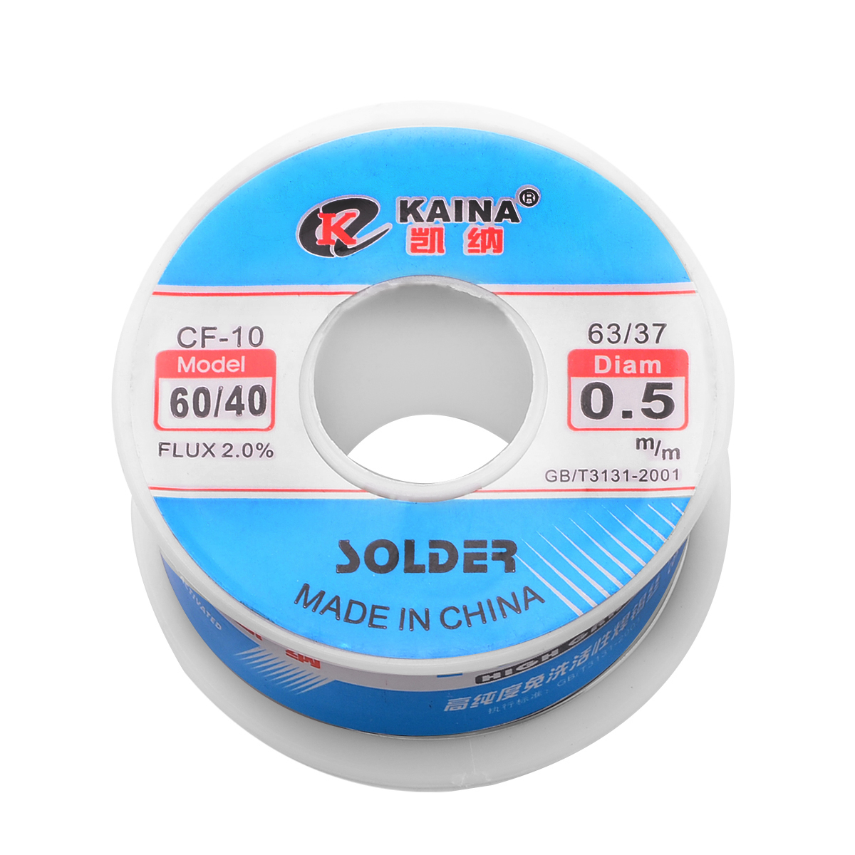 <font><b>Solder</b></font> <font><b>60/40</b></font> 0.5mm 100g Rosin Core Tin Lead <font><b>Solder</b></font> Wire Soldering Welding Flux 2.0% High Quality Iron Wire Reel Mayitr image