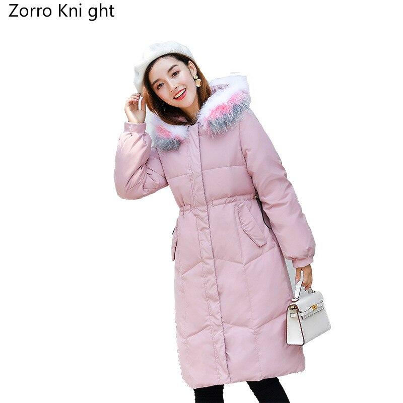 Le Manteau En Femmes Survêtement Photo Color Veste D'hiver Rembourré Col Femelle 2018 photo Parka Hiver Ouatée Bas De Color Fourrure Faux Coton Vestes Nouvelle Vers wZtqqRv