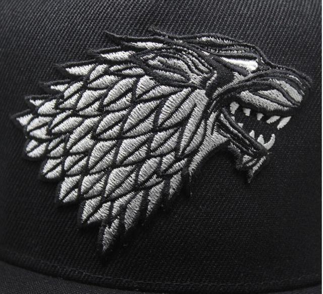 Кепка черная с гербом семьи Старков Игра Престолов 3