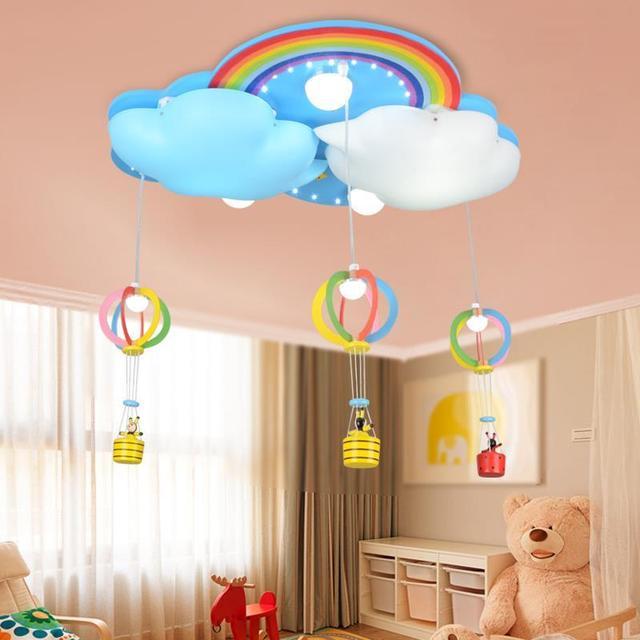 Kinder Wolken Regenbogen led deckenleuchte schlafzimmer mädchen Prinzessin  lampen kindergarten deckenleuchten ZA927616