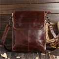 100% Oil wax Genuine Leather Shoulder Cross Body First Layer Cowhide Tote Handbag Men Luxury Briefcase Business Messenger Bag