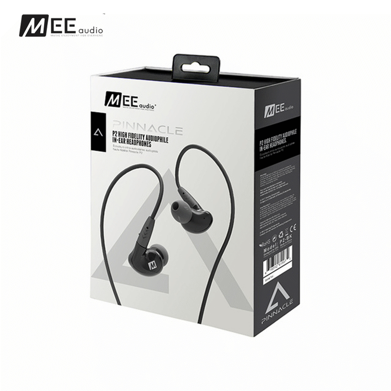 Newest MEE Audio PINNACLE P2 High Fidelity Audiophile In-Ear Headphones with Detachable Cables HIFI Bass Noise Isolating Earbud original mee audio pinnacle p1 audiophile bass hifi dj studio monitor music in ear earphones w detachable cable vs pinnacle p2
