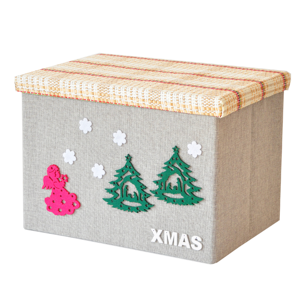Hot Lovely 26l Polyester Clothing And Toy Makeup Organizador Drawer Basket Christmas Tree For Folding Storage Box Container In Bo Bins From