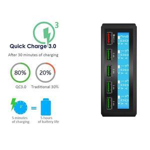 Image 4 - רב יציאת מטען 5 USB 5V8A מהיר תשלום 3.0 LCD להראות טעינה עבור iPhone iPad סמסונג Huawei Xiaomi נקסוס LG אספקת חשמל