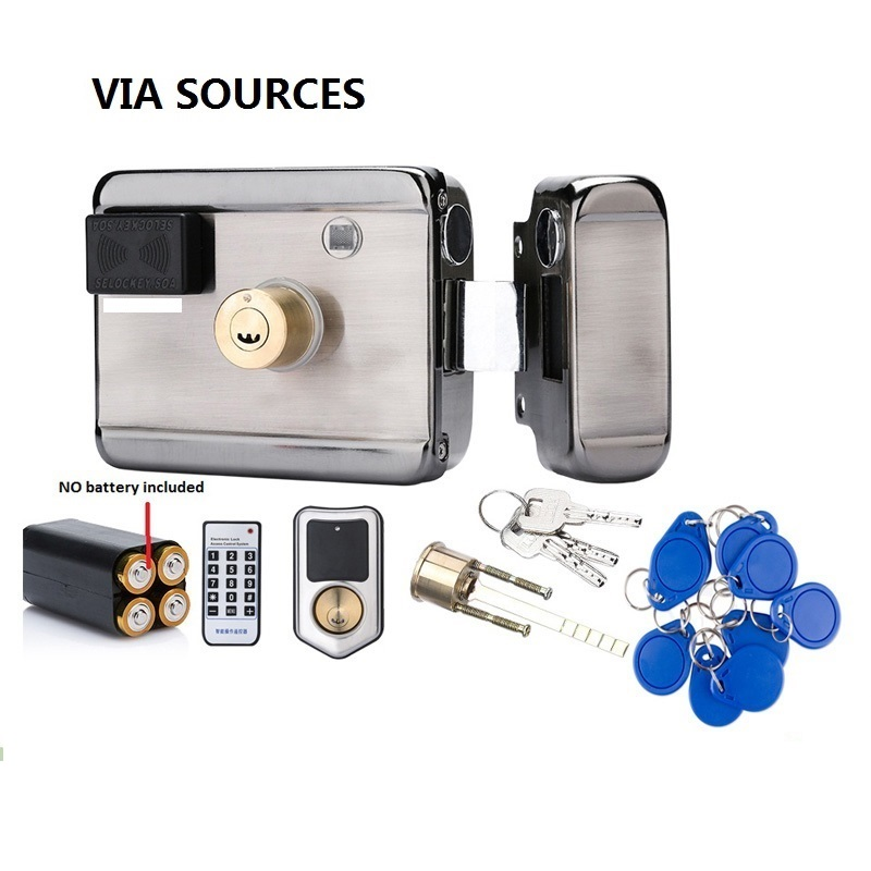 Free Shipping 12VDC 13.56 IC RFID Reader Electric Gate Door Lock Access Control System Kit With 10tags Or TM Tag Security Kit lpsecurity battery powered 12vdc 13 56 ic rfid reader electric gate door lock access control system kit with 10tags or tm tag