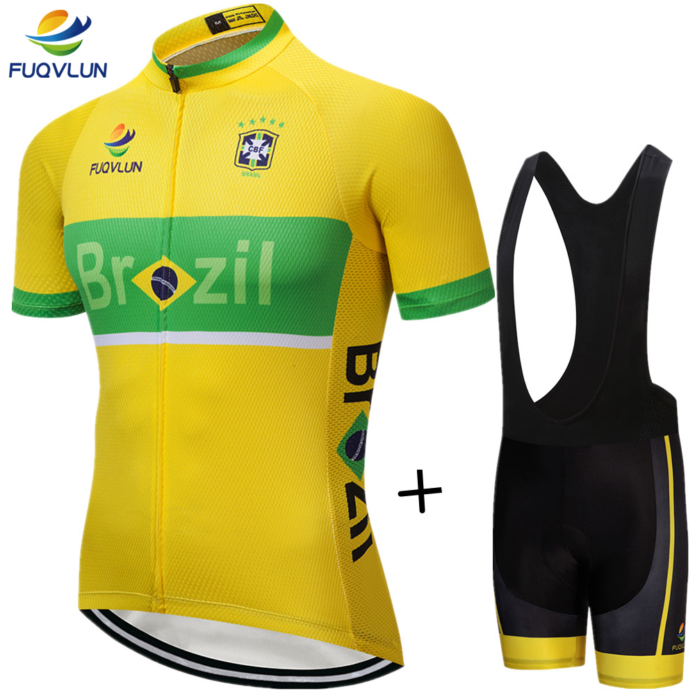 FUQVLUN 100% Polyester 2018 Bike Cycling Jerseys Roupa Ciclismo/Breathable Brazil Cycling Clothing/Quick Dry Cycle Sportswear