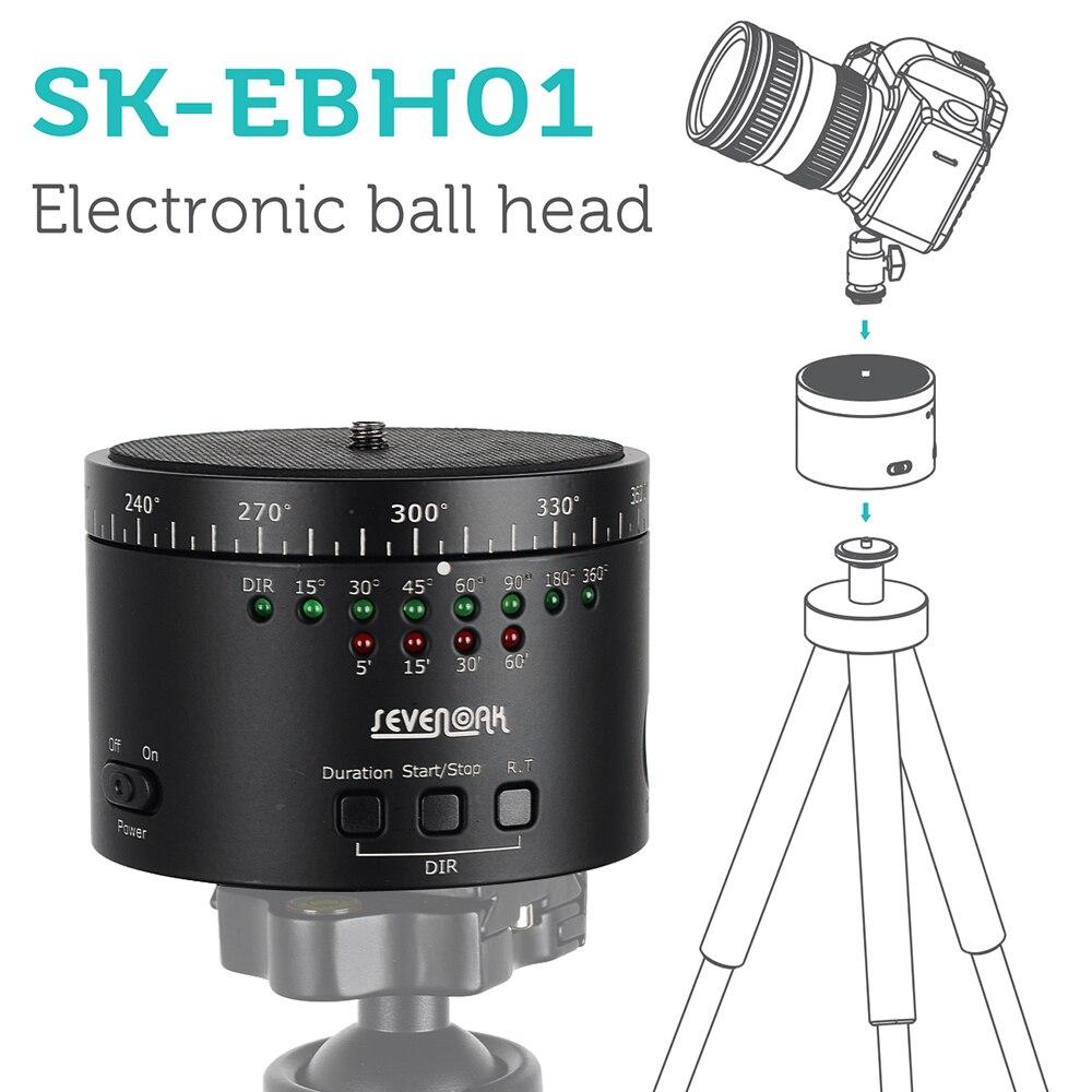 SEVENOAK SK-EBH01 Electronic 360 Degree Panoramic Tripod Ball Head for DLSR Camera Sony A7s A7r NEX-6