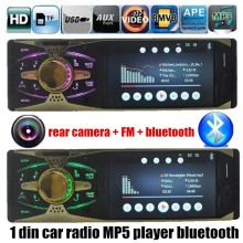 4.1 pulgadas 1 DIN apoyan la cámara trasera TFT HD del coche de la pantalla Mp5 MP4 bluetooth reproductor de Audio y TF / FM USB AUX 7 backgroud ilumina