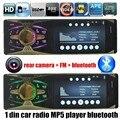 4.1 polegada 1 DIN câmera traseira apoio TFT HD Tela rádio Do Carro Mp5 MP4 Jogador do bluetooth de Áudio e vídeo TF/USB FM AUX 7 luzes backgroud