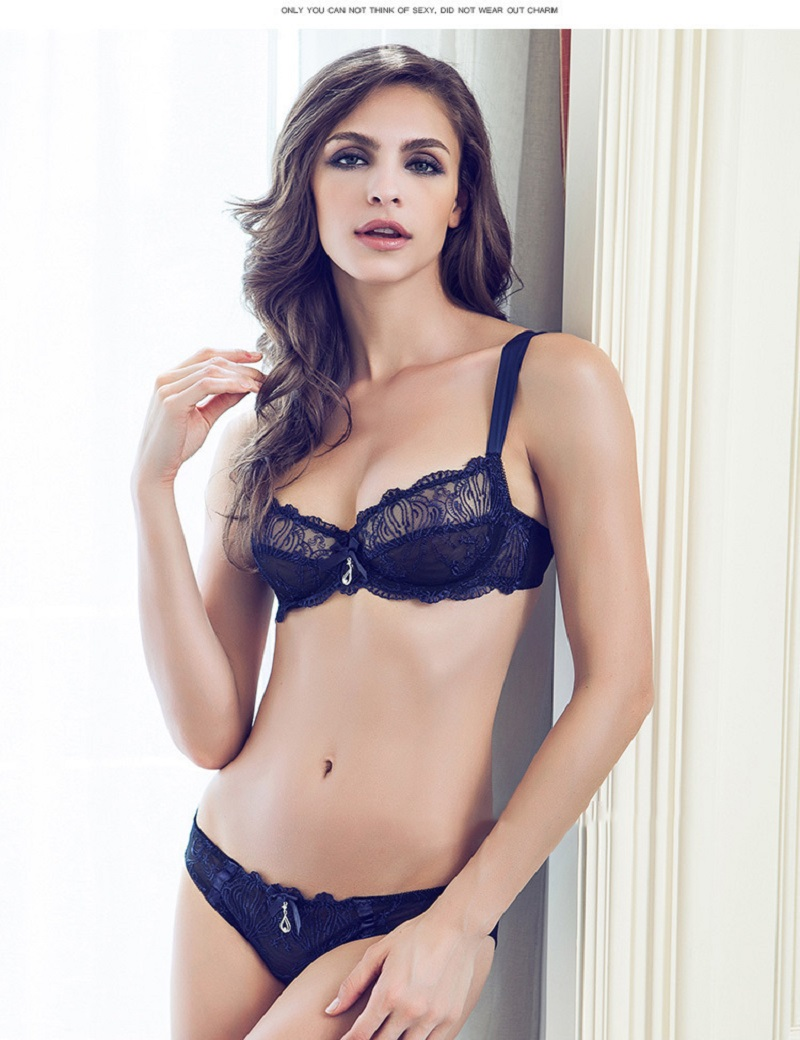 172cd56c5c4 2018 brand elegant underwear set full transparent lace sexy women bra set  plus size push up bras and lingerie set BS320-in Bra & Brief Sets from  Women's ...
