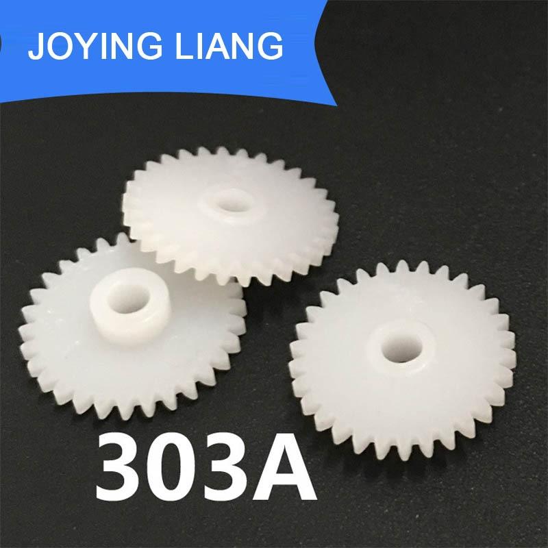 303A 0 5M 30 Teeth 3mm Shaft Tight Pom Plastic Pinion Gear Toy Model Gear 2500pcs