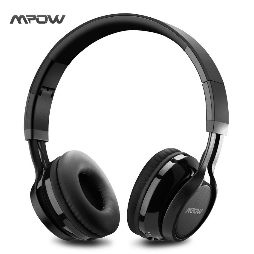 Mpow MPBH036AB Thor Bluetooth Headphones Over Ear Wireless Headset with Mic and Wired Mode, Foldable Wireless Headphones merrisport wireless bluetooth foldable over ear headphones headsets with mic for for cellphones ipad iphone laptop rose gold