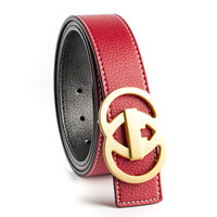 2017 Red Luxury Solid Brass Double G Designer Belts Men High Quality Male Women Genuine Real