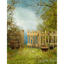 outdoor woods backgrounds. Customized Vinyl Photography Backdrops Spring Outdoor Wood Fence Flower  Grassland Photo Background Children For Photo Studios Woods Backgrounds