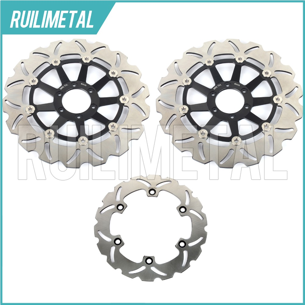 Full Set Front Rear Brake Discs Rotors for Honda CBR 1100 XX Super Blackbird 99-08 07 06 CB 1100 SF X-11 X-Eleven 00 01 02 03 04