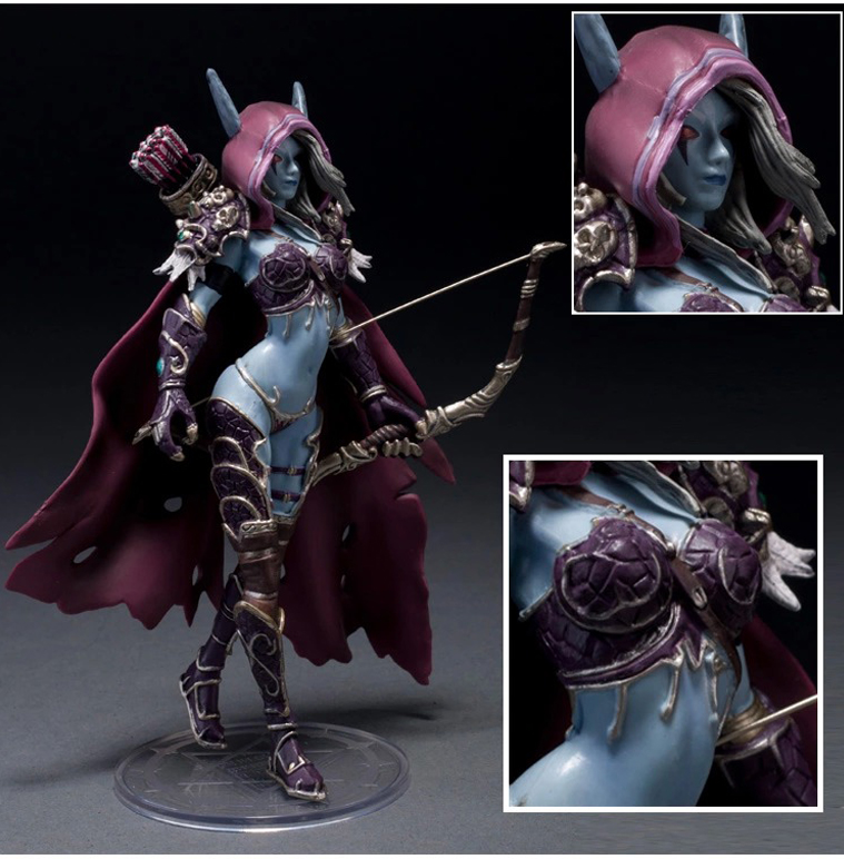 ФОТО 14.5CM WOW action figure toy Sylvanas Windrunner classic toys for boys