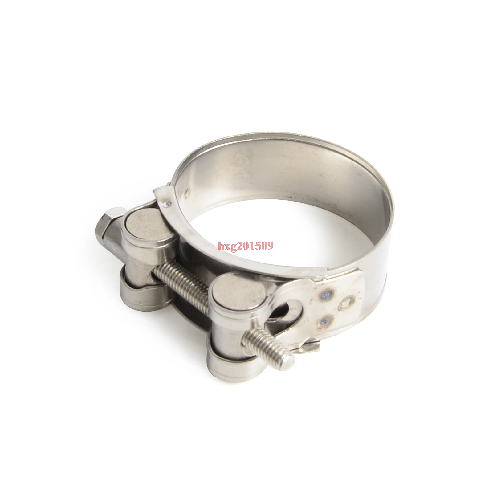 100% New Heavy Duty Stainless Steel Motorcycle Exhaust Banjo Clamp Clip 47mm-50mm For Scooter Dirt Bike ATV