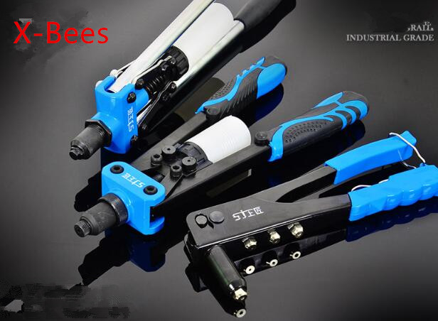 Metal Wood Working Pop Rivet Tool Riveter Gun Repair Tools Kit Heavy Duty Hand Tool(provide One Package Rivet For Free)