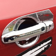 Tonlinker Cover Case Stickers for SUZUKI vitara 2016-18 Car Styling 4-8 PCS ABS Chrome Exterior Door Handles cover case sticker