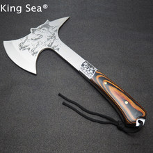 2017 Nieuwe Collectie Bijl Multifunctionele Tomahawk Outdoor Berg Camping Ax Survival Machete Camping Hatchet Met Houten Handvat(China)