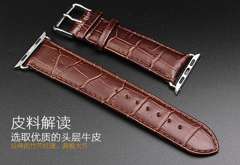 Series 4/3/2/1 100% Crocodile Genuine Leather with Adapter Strap For Apple Watch Band 44/42MM/40/38MM for iWatch Sports Buckle стоимость