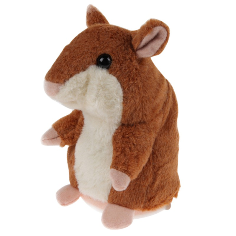 Children Talking Hamster Plush Electric Toy Sound Record Speaking Hamster Talking Trick Funny Toys Teasing Baby