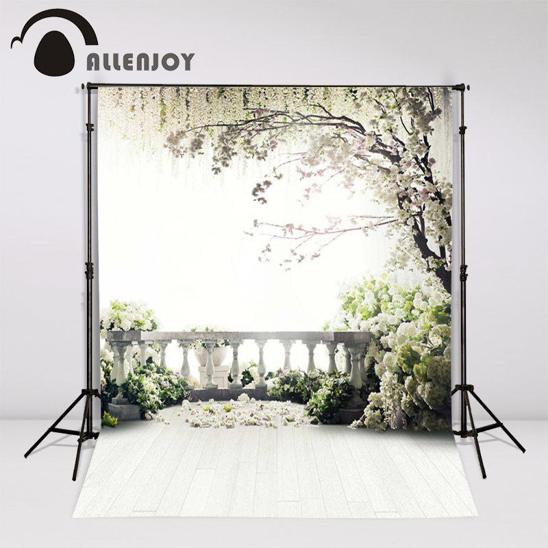 цены Allenjoy 300x200cm (6.5ftx10ft) Flowers Photo Background trees garden loft wedding Photography backdrops Studio Interior Photos