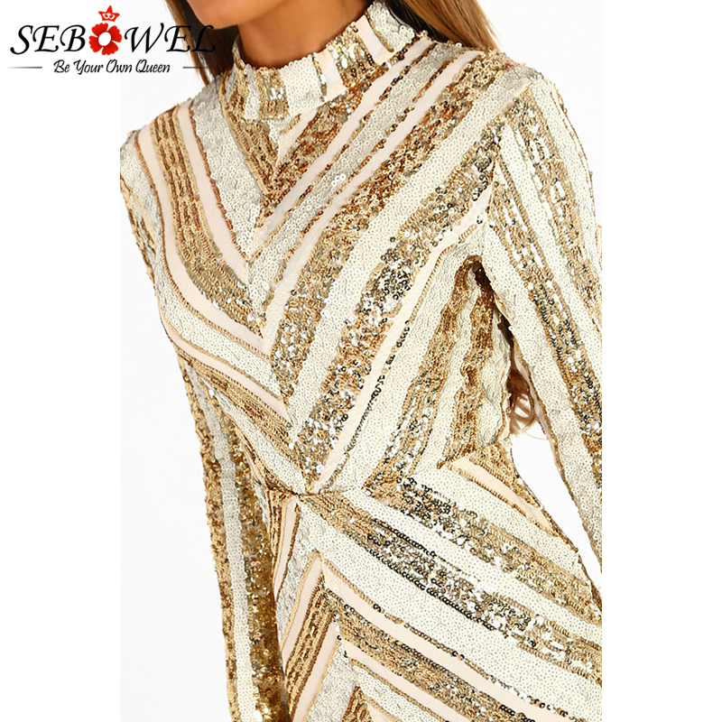 Life-Of-The-Party-Gold-And-Nude-Sequin-Long-Sleeve-Mini-Dress-LC220592-12-3
