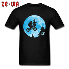 I.T UFO Earth Biker T Shirts Design Pure Cotton Summer/Autumn Tops Tees Print T-Shirt Travel Fashion Funny Tshirt Mens