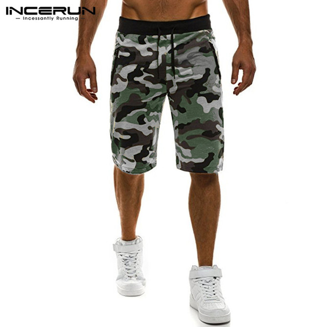 Camouflage Men's Shorts Loose Calf Length Sweatpants