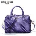 EMINI HOUSE Limited Hand Knitting Sheepskin Shoulder Bags Fashion Women Bag Luxury Handbag Casual Tote Women Messenger Bags