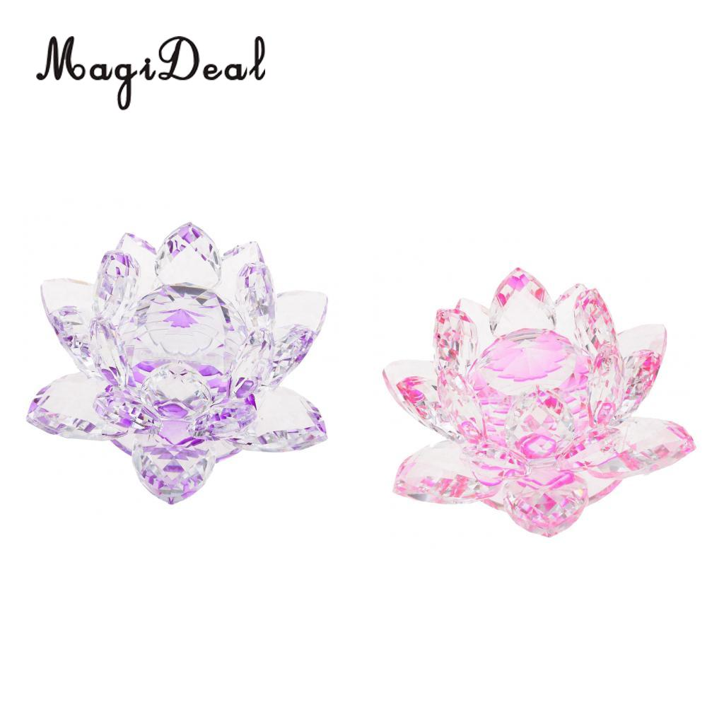 Hot Sale Crystal Lotus Flower Crafts Paperweights Glass Lotus Model