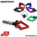 EPMAN Racing Rosca de Aluminio CNC Barra de Remolque para el Coche de Japón triángulo Anillo de Gancho de Remolque remolque RACE JDM Para Honda Toyota EP-RTH001SJ-FS