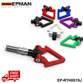 EPMAN Tow Bar for Japan Car Racing Screw Aluminum CNC Triangle Ring Tow Towing Hook JDM RACE For Honda Toyota EP-RTH001SJ-FS