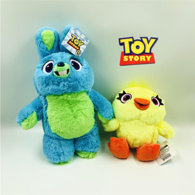 New Toy Story 4 Plush Toys Cute Cartoon Rabbit Bunny Duck Ducky Soft Stuffed Animal Dolls Gift for Kids Children