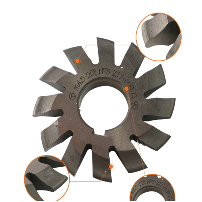 Image 4 - 8PCS NO.1 NO.8 M0.4 M0.5 M0.6 M0.7 M0.8 M1 M1.25 M1.5 M2 M3 M4 Modulus PA20 Degrees HSS Gear Milling cutter Gear cutting tools-in Milling Cutter from Tools