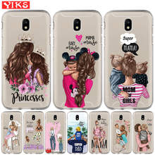 Sweet Family Super Mom Dady Baby Girl Phone Case For Samsung Galaxy J3 J5 J7 2015 2016 2017 J2 Pro J6 Prime 2018 G530 Cover Etui(China)