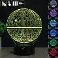 Ilusión 3D Star Wars Estrella de La Muerte de Control Remoto LED de Escritorio Lámpara de mesa de Luz de La Noche 7 Táctil a Color Kids Niños Familia HolidayGift