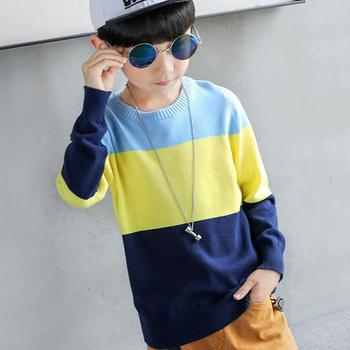 2020 Boys Long Sleeve Striped Sweaters Children Clothing Knitted Sweater Toddler Kids Autumn Warm Outerwear Tops Cardigan 10 12