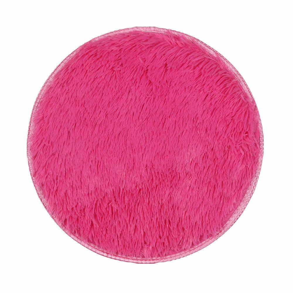 40*40 CM רך עגול שטיח שטיחים לסלון דקור פו פרווה שטיח ילדים חדר ארוך קטיפה שטיחים עבור חדר שינה שטיח שאגי #3 $