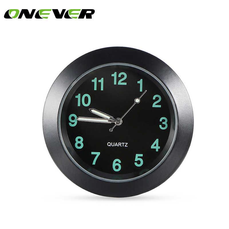 Onever Car Air Vent Clip Clock Car Decoration Mini Quartz Mechanics Watch Auto Ornament Car-styling Auto Interior Watch Digital
