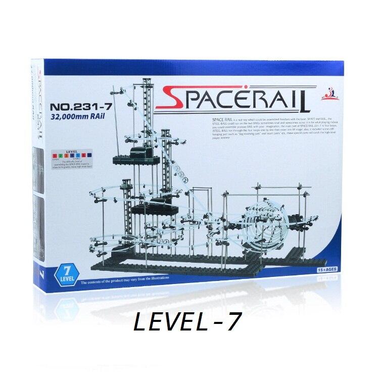Niveau de rail spatial 7, #231-7, blocs de construction de jouets, montagnes russes à haut degré, jouets de construction de modèle de chaîne spatiale