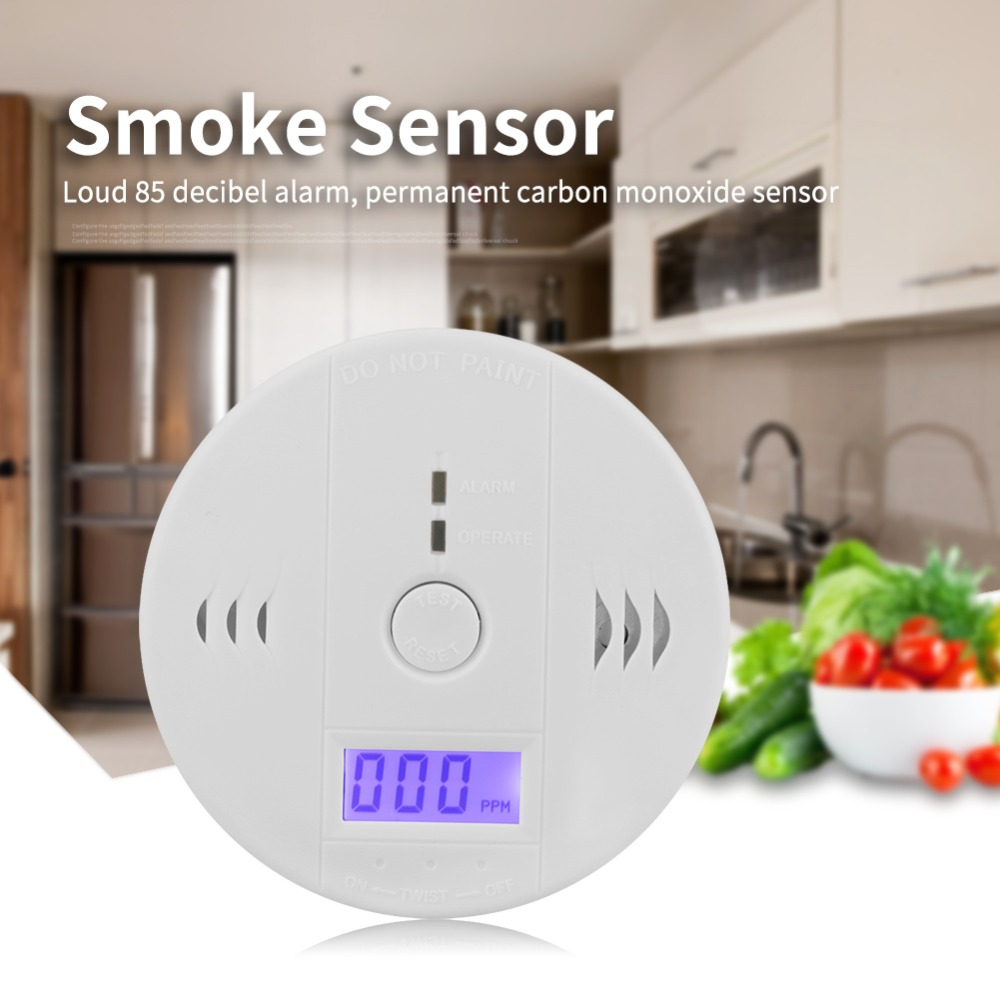 LCD CO Carbon Monoxide Smoke Detector Poisoning Gas Warning Sensor Alarm new co carbon monoxide alarm poisoning smoke gas sensor warning detector tester lcd home alarm system free shipping dp002