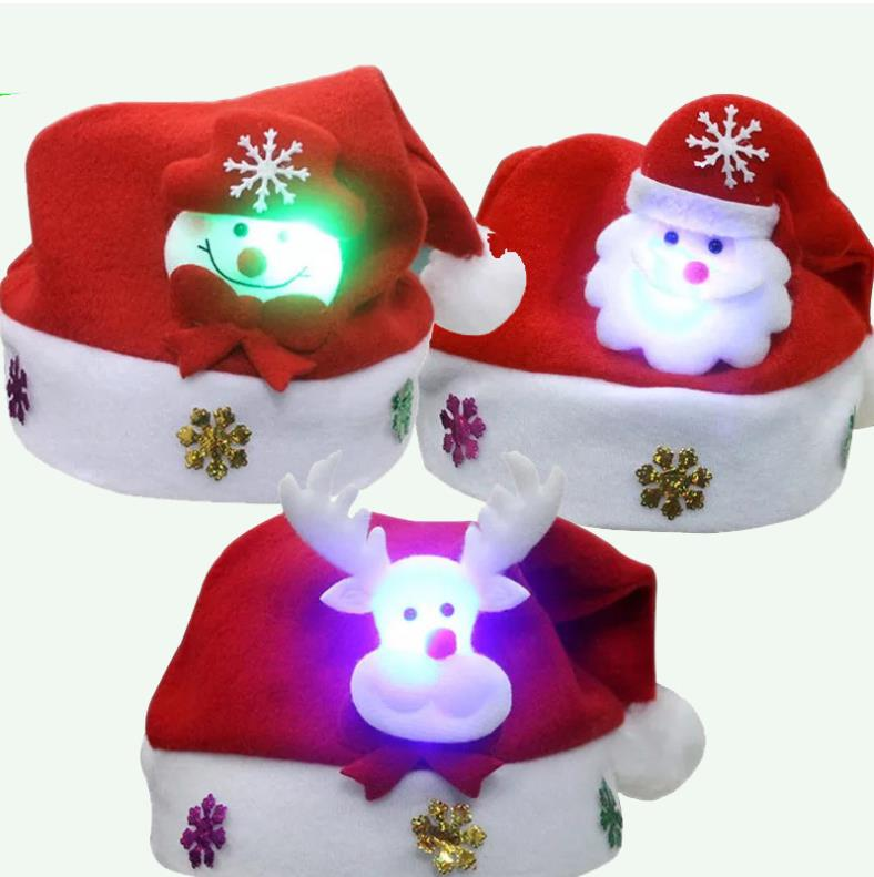 Christmas Hats For Kids.Us 0 99 40 Off Christmas Hats Kids Christmas Decoration Gold Velvet Non Woven Hat Ugly Christmas Sweater Led Chapeau Noel In Christmas Hats From