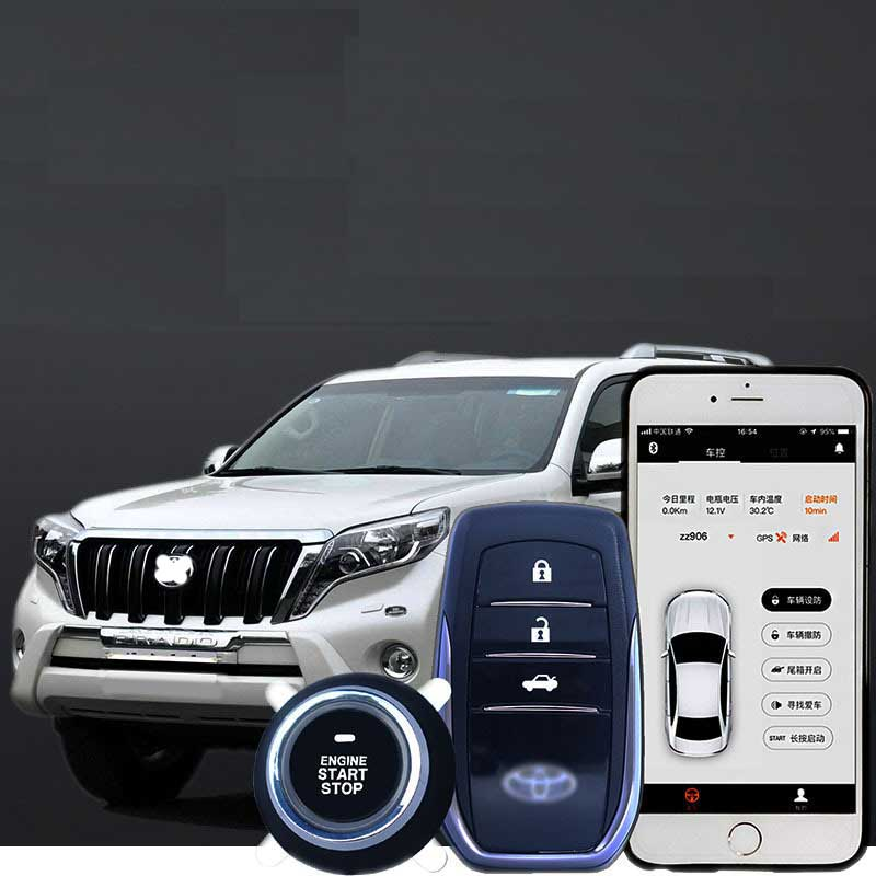 Keyless Entry Engine Remote Start Alarm System Push Button Remote Anti theft Mobile Phone APP PKE Starter Stop Auto For Trucks