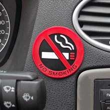 car-styling Glue Sticker for ford vw peugeot opel Warning No Smoking Logo Car Stickers Easy To Stick For renault mazda golf 4